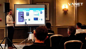 Cole Little, Business Development Manager pictured at Day 1 of NIVO's Seminar Event