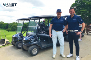 James Dickson, Chairman and Mark Parry, Commercial Director pictured at Day 2 of NIVO's Networking Golf Event.
