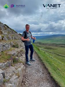 Volunteer Neil Burton training for the Yorkshire Three Peaks Challenge