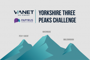 VIANET TAKES ON THE YORKSHIRE THREE PEAKS CHALLENGE IN AID OF PAPYRUS
